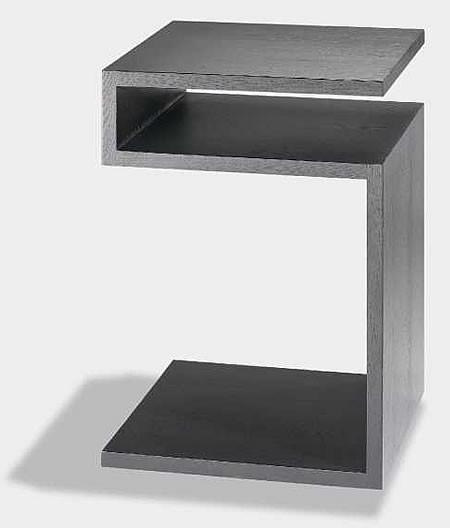 lambert beistelltisch deposito eiche schwarz. Black Bedroom Furniture Sets. Home Design Ideas
