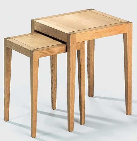 lambert beistelltisch satz domino 1 eiche ge lt. Black Bedroom Furniture Sets. Home Design Ideas