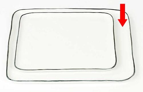 lambert quadratischer teller hauptspeisenteller porzellan piana. Black Bedroom Furniture Sets. Home Design Ideas