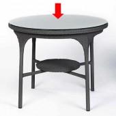 Lambert Glasplatte rund für Tisch San Remo