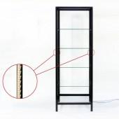 Lambert Vitrinenschrank Schneewittchen, ohne Tür - mit LED-Lichtsystem