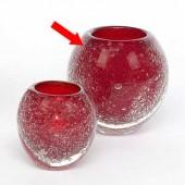 Lambert großes Windlicht / Vase Salviato - Rot
